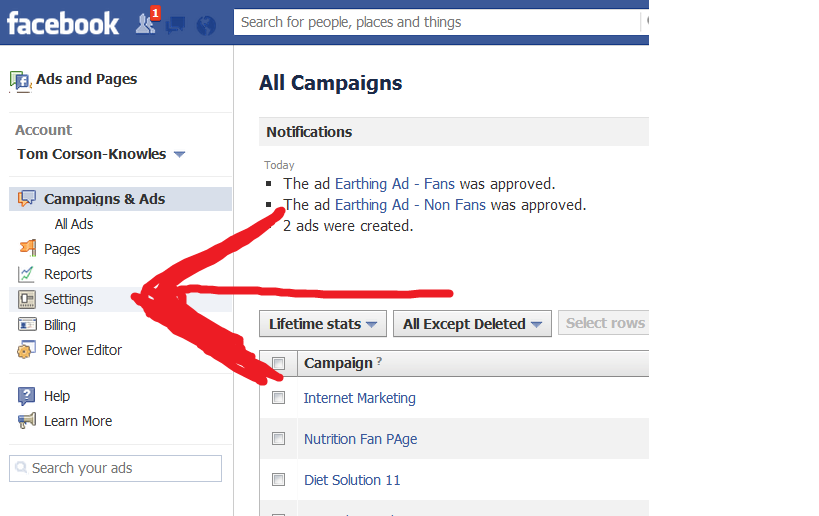 Adding A Facebook Ads Manager