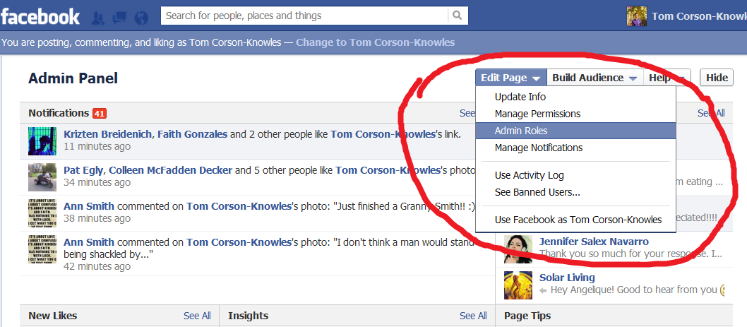 Facebook Changing Admin Roles picture