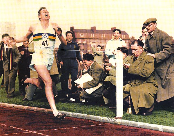 Roger Bannister Breaks 4-minute mile picture