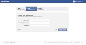 Facebook Home Page Step 3