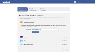 Facebook Home Page step 2 picture