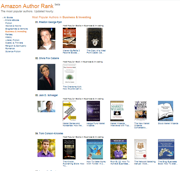 Amazon Author Rank #84 Business & Investing picture
